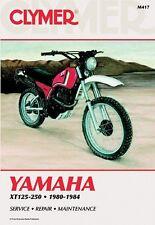 CLYMER SERVICE MANUAL YAMAHA XT125 & XT200 1982-1983, XT250 1980-1984 84 83 82