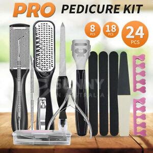 8/24pcs Manicure Foot Pedicure Kit Rasp File Remover Scraper Nail Care Tool Set