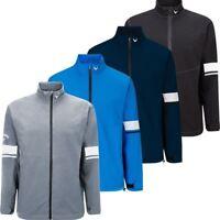 Callaway Mens Green Grass Full Zip Waterproof Performance Golf Jacket
