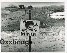 MINEFIELD Danger German Skull Bones War Minen International Business Death Photo