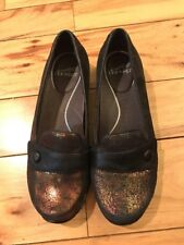 Dansko OLENA METALLIC Copper color Loafers Size 39 8.5 New without Box