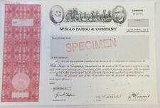 Wells Fargo & Co., 2007 Odd Shares Specimen Stock Certificate, XF ABN Red