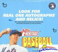 2021 Topps Heritage Baseball MASSIVE Factory Sealed 24 Pack Retail Box-216 Cards