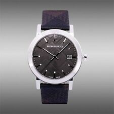 Authentic Burberry Heritage City Men Unisex Leather Band Watch BU9024