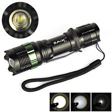 400LM Waterproof 7W Zoomable CREE Q5 LED Flashlight 18650/AAA SA-9 Outdoor Torch