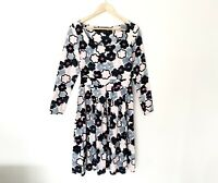 Timeless By Vanessa Tong Size 10 Floral Fit & Flare Dress Long Sleeve Cotton