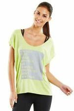 Lorna Jane UNIQUELY Relaxed Fit t Womens Tee Yoga Top S/Sleeve T-Shirt Size XS S