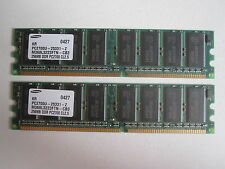 2 banchi RAM DDR SAMSUNG 256MB PC2700 CL2.5