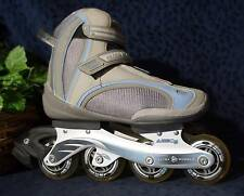 Very Nice GSE ULTRA WHEELS ABEC5 AutoFit Blue & Gray Inline Skates Womens Sz 9