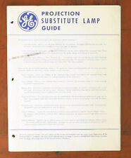 GE PROJECTION SUBSTITUTE LAMP GUIDE/108592