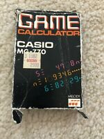 Vintage Casio MG-770 VTG Credit Card Size Calculator GAME & MELODY TESTED WORKS