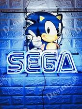"New Sega Video Arcade Game Room Beer Neon Light Sign 20""x16"" HD Vivid Printing"