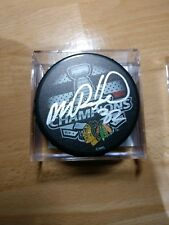 MICHAL ROZSIVAL Signed Blackhawks 2015 Stanley Cup Champs Logo Hockey Puck