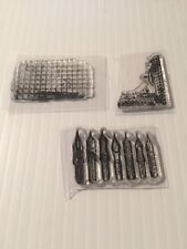 tim holtz stampers anonymous clear stamps scrapbook 3 piece