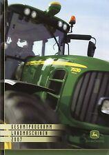 John Deere Prospekt 2007 Landmaschinen Mähdrescher Feldhäcksler Trecker brochure