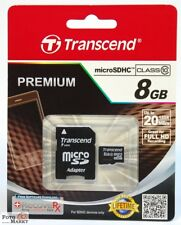 TRANSCEND 8GB MicroSD Karte Class 10 Speicherkarte MicroSDHC SDHC 8 GB micro