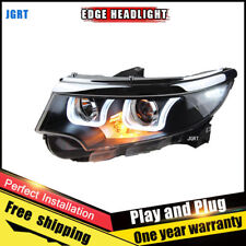 For 2010-2014 Ford Edge Headlights assembly Bi-Xenon Lens Double Beam HID KIT