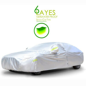 15Ft Universal Car Cover Waterproof All Weather Protection Dust UV Resistant US