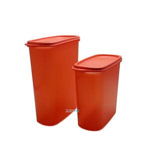 Tupperware Eidgenossen 2,2l + 1,7l Dose Vorrat hummer-rot NEUHEIT Trockenvorrat