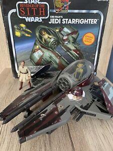 Obi-Wan's Jedi Starfighter Star Wars Revenge Of The Sith Box With Figure Hasbro