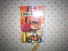 2009 Matchbox #74  Tractor Plow MATTE BLACK/ORANGE/MOC