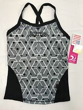 Jazzercise KOS USA Women's S Small Black Gray Yoga Workout Tank Top
