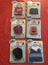 Lot of 6 Ganz Brand Clothing Fits Most Webkinz Dogs & Cats w Pumpkin, Jeans, +