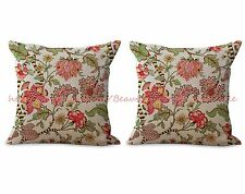 US SELLER- set of 2 sofa pillow cases retro vintage floral cushion cover