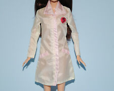 White Cosmetology, Laboratory Lab Coat Jacket w Pink Trim Genuine BARBIE Fashion