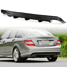 For Mercedes Benz W204 A Style Carbon Fiber Rear Diffuser Single Exhaust C300