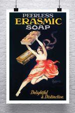 Erasmic Soap Vintage Leonetto Cappiello Poster Canvas Giclee Print 24x36 in.