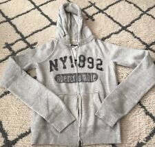 Abercrombie & Fitch Women's hoodie size  medium grey vintage juniors