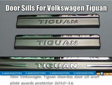 NEUF VOLKSWAGEN TIGUAN INOX Marche pied grattoir Plaque guards protection