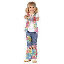 Hippy Girl Toddler, Childs Costume, Fancy Dress #US