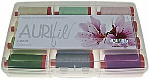 AURIFIL THREAD FLOWER COLLECTION 100% COTTON LARGE SPOOLS 50 WT