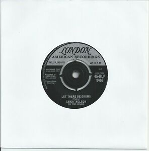 """Sandy Nelson - Let There Be Drums 7"""" Vinyl Single 1961"""