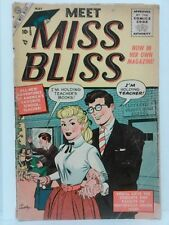 Meet Miss Bliss #1 1955 1.0 comic book see pics for condition