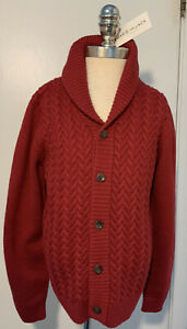 NWT Janie and jack Boy Red Sweater Size 7 Years