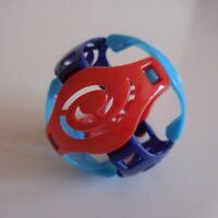 Sphère balle ballon sculpture KINDER bleu rouge FF110 58 collection jouet N5247