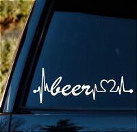 Beer Heartbeat Lifeline Decal Sticker for Car Window BG120 Brew Craft Making Kit