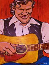 DOC WATSON PRINT poster bluegrass folkways recordings cd gallager guitar blues