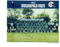 1985  INDIANAPOLIS COLTS 8X10 TEAM PHOTO MARYLAND  FOOTBALL NFL USA