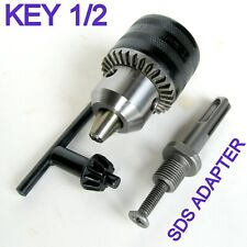 """1 pc SDS Plus Adapter and Key 1/16"""" - 1/2"""" Capacity Drill Chuck S"""