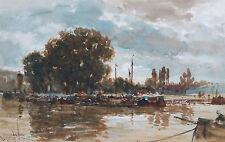 Thomas Bush Hardy 19th Secolo Francese Senna la pittura di paesaggio Rouen