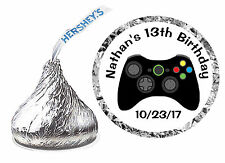 216 VIDEO GAME BIRTHDAY PARTY FAVORS HERSHEY KISS KISSES LABELS