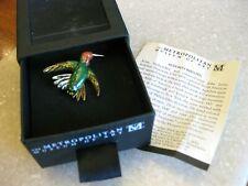 Guilloche Enamel Hummingbird Pin Brooch Mma Metropolitan Museum of Art Audubon