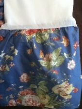 Waverly Garden Room Masterpiece Queen Size Blue Foral Bed Skirt/Ruffle