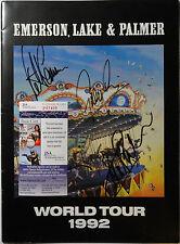 SIGNED ELP EMERSON, LAKE & PALMER AUTOGRAPHED '92 TOUR PROGRAM JSA # P87409