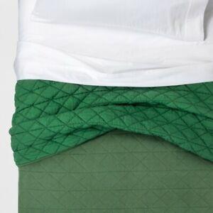 Pillowfort Vintage Wash Twin Quilt Green