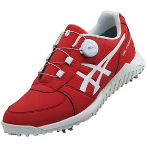 ASICS Golf Shoes GEL-PRESHOT BOA Soft Spike Wide 1113A003 Red With Tracking